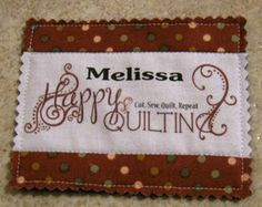 Printing on fabric using freezer paper - make your own quilt labels.