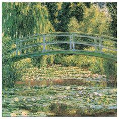 MONET - Le pont Japonais 70x70 cm #artprints #interior #design #art #prints #Monet  Scopri Descrizione e Prezzo http://www.artopweb.com/autori/claude-monet/EC16943