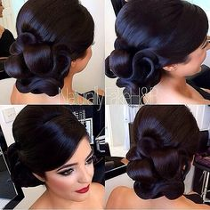 The Gorgeous Macey ❤️ Hair & Makeup By Fancy Hairstyles, Bride Hairstyles, Pentecostal Hairstyles, Classic Wedding Hair, Wedding Updo, Formal Wedding, Curly Hair Styles, Natural Hair Styles, Hair Upstyles