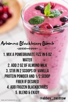 Use as a meal replacement shake with fizz caffeine to start your morning! #arbonne