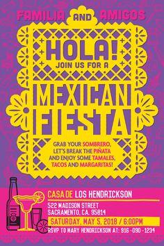 Familia & Amigos...Are you ready for a Mexican Fiesta?! Party invitation for instant download at #etsy shop 'Ideas2Print' #partyprintables #party #cincodemayo #mexico #fiesta #papelpicado #artsncrafts #digital #cocomovie #pixar #cocoticket