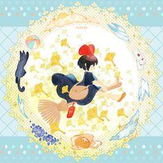 Kiki by Kaze-Hime on DeviantArt Totoro, Studio Ghibli Art, Studio Ghibli Movies, Hayao Miyazaki, Illustrations, Illustration Art, Kiki Delivery, Kiki's Delivery Service, Japanese Animated Movies
