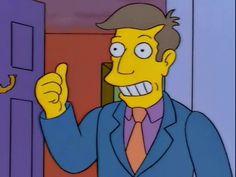 Trending GIF simpsons ok thumbs up good job principal skinner seymour skinner this is fine way to go steamed hams everything is cool Simpsons Episodes, Simpsons Cartoon, Cartoon N, Seymour Skinner, Incredible Cartoon, Ok Gif, Goat Cartoon, Homer Simpson, Vintage Cartoon