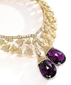 Property of a New York Estate. 18 Karat Gold, Diamond and Amethyst 'Botticelli' Necklace, Van Cleef & Arpels