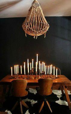 Love love love  table + chaises et les chandeliers :)))))