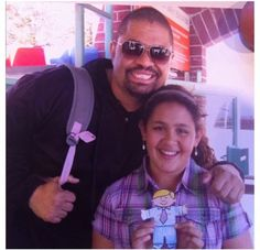 Heavy D and his daughter Xea. She was in a water polo tournament with my daughter