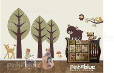 Forest Friends Baby Nursery Vinyl Wall Decals by pinktoblue