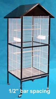Indoor Outdoor Flight Bird Aviaries Canary Breeding Parakeet Cockatiel Cage 0591 on eBay!
