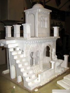 Dollhouse Miniature Tutorials, Miniature Crafts, Dollhouse Miniatures, Christmas Nativity Scene, Christmas Crafts, Navity Scene, Thermocol Craft, Styrofoam Art, Minecraft Modern