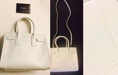 100 Authentic Saint Laurent Baby Sac de Jour Bag White Dove Leather $2650 Tax   eBay