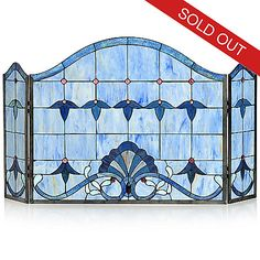 Tiffany-Style Allistar Stained Glass Fireplace Screen ShopHQ.com