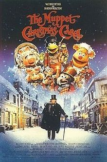 The Muppet Christmas Carol (1992) It's a musical comedy.  Disney and Jim Hensen version with Michael Caine.