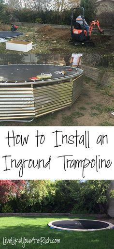 Ever since I was a kid I've loved inground trampolines. We had them at my grandparent's house and at their cabin. They were so easy to run on and off of, take turns on, and were super convenient for us as kids.