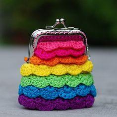 Duhová peněženka s klíčkem - AKCE:-)