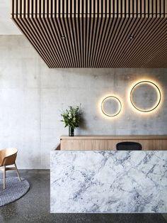 Reception desk inspiration www.CorporateCare…