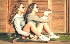 friends and skateboard