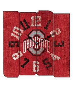 Love this Ohio State Buckeyes Square Clock on #zulily! #zulilyfinds