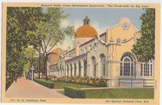 Quapaw Baths Hot Springs National Park Arkansas, vintage postcard
