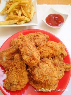 Skrzydełka KFC (Hot Wings) Spicy Recipes, Copycat Recipes, Chicken Recipes, Cooking Recipes, I Love Food, Good Food, Yummy Food, Kfc Hot Wings Recipe, Kfc Coleslaw