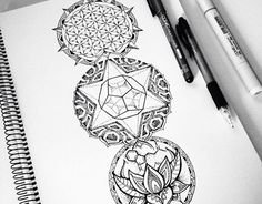 Sacred geometry tattoo design