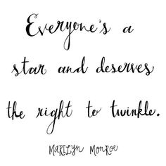 This made me smile twinkle is such a cute word.