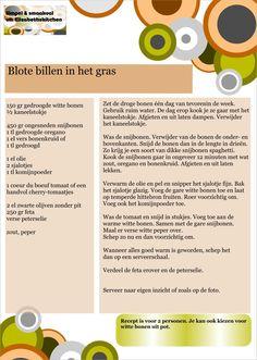 Blote billen in het gras - het recept
