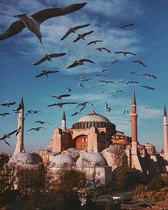 Turkey Travel Destinations Honeymoon Backpack Backpacking Vacation Budget Off the Beaten Path Wanderlust Visit Istanbul, Istanbul City, Istanbul Travel, Hagia Sophia Istanbul, Mekka, Beautiful Mosques, Grand Mosque, Islamic Architecture, Turkey Travel