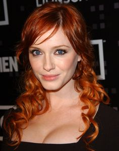 Christina Hendricks  That hairstyle, the colour, curls and eyes. #swoon #melts    #MarryMe