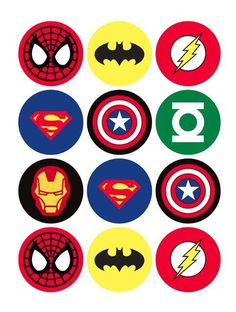 The Avengers Superhero Cupcake Toppers - Batman Printables - Ideas of Batman Printables - 12 rounds per sheet. Ships to US territory only. School Birthday, 4th Birthday Parties, Boy Birthday, Birthday Cupcakes, Birthday Ideas, Super Hero Birthday, Avenger Birthday Party Ideas, Super Hero Theme, Party Cupcakes