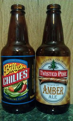 Twisted Pine Brewing - Billy's Chilies (#315) (A) very good chili beer...American Amber Ale (#316) (B).