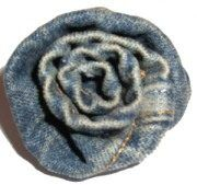DIY denim rose