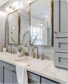 NC Blogger I'm Fixin' To shares a recent inspiration board featuring ideas for a modern guest bathroom refresh. Check it out! Interior Minimalista, Guest Bathrooms, Small Bathroom, Basement Bathroom, Light Grey Bathrooms, Budget Bathroom, Grey Modern Bathrooms, Guest Bathroom Remodel, Bathroom Hacks