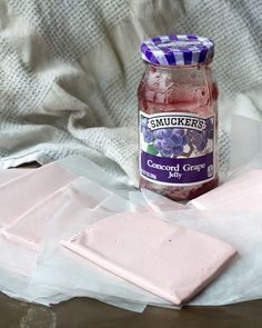 It used to be simply called Tangy Taffy. This recipe is Grape Tangy Taffy (adapted from the recipe for Tangy Taffy). Concord Grape Jelly, Grape Jam, Homemade Taffy, Homemade Candies, Homemade Food, Candy Recipes, Sweet Recipes, Dessert Recipes, Grape Recipes
