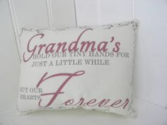 Mothers Day Grandma Mini Quote Pillow by TheSewingCroft on Etsy, £9.00