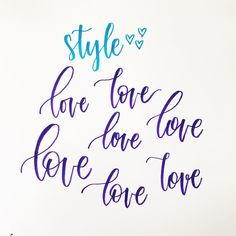Which style is your favorite? [Swipe 👉🏻 to see the numbers] . My favorite is either 1 or Finding my style was so tricky in the beginning. If you're struggling on specific words - try this out! Write the same word multiple times making Calligraphy Drawing, Calligraphy Handwriting, Learn Calligraphy, Caligraphy, Best Brush Pens, Brush Lettering, Typography Fonts, Alphabet, Letters