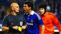 SOCCER-CHAMPIONS/ Chelsea's Ballack - Tom Henning Øvrebø har dømt en rekke internasjonale kamper. Foto: Reuters/ Eddie Keogh.
