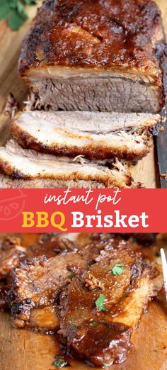 This Instant Pot Brisket is the easiest, quickest and most delicious beef brisket recipe! This tender, melt in your mouth BBQ brisket is sure to become one of your favorite instant pot recipes ever! Bbq Beef Brisket Recipe, Grilled Brisket, Bbq Brisket, Brisket Sides, Brisket Sandwich, Smoked Brisket, Pressure Cooker Brisket, Instant Pot Pressure Cooker, Slow Cooking