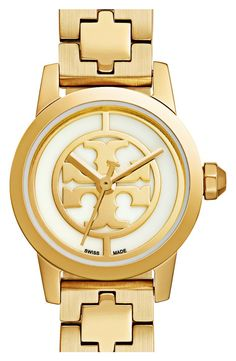 Crushing on this classic Tory Burch watch in gold for an essential, everyday accessory.