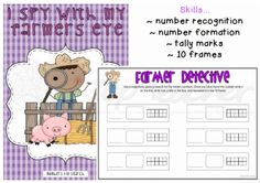 I spy numbers. Independent activity which works on number recognition, formation and 10 frame