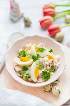 Húsvéti tojássaláta laktózmentesen recept Easter Recipes, Easter Ideas, Paleo, Eggs, Healthy Recipes, Dishes, Cooking, Breakfast, Food