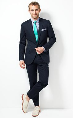 navy and teal