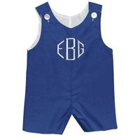 Monogrammed Shortall~Choose Your Own Thread Color!