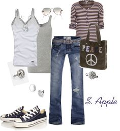 """Peace :)"" by sapple324 on Polyvore"