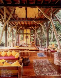 Love the idea of having an outdoor space like this, just to enjoy the outdoors. Bali dream house eclectic interior ~ Boho living by Raul Barreneche, Cookie. Home Living, Living Spaces, Living Area, Living Rooms, Outdoor Rooms, Outdoor Living, Indoor Outdoor, Bamboo House, Interior Minimalista