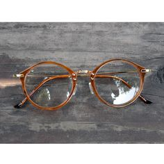 62035536faf 1920S Vintage Round Oliver Retro Eyeglasses Frames 23R10 Brown Kpop Peoples  Fin  ebay  Fashion