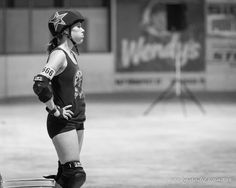 All the jammer feels.  Photo cred: @areinders9  #rollerderby #jammer #capitalcityrollers #spitfires