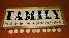 Family Birthdays sign...handmade sign, family, birthdays, wedding gift, farmhouse sign, framed sign, housewarming gift, wooden sign, painted by DoubleOakVintage on Etsy
