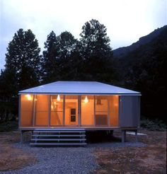 We love Japanese small home design ideas and at just 624 sq., this contemporary compact cottage by architect Toyo Ito packs a lot of character into a Toyo Ito, Boutique San Francisco, Small Cottage Designs, Small House Design, Cottage House Plans, Small House Plans, Shed Building Plans, Building A House, Metal Shop Houses