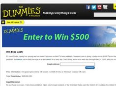 The Dummies.com Sweepstakes