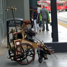 Steampunk Wheelchair by statelyenglishmanor,....;]]]]